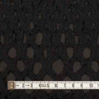 レーヨン&シルク×幾何学模様(ブラック)×ジョーゼット・カットジャガード サムネイル4