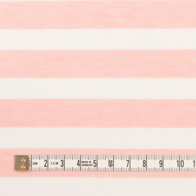 コットン&ポリエステル×ボーダー(ピンク)×天竺ニット_全3色 イメージ4