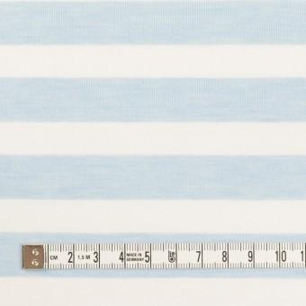 コットン&ポリエステル×ボーダー(サックス)×天竺ニット_全3色 サムネイル4