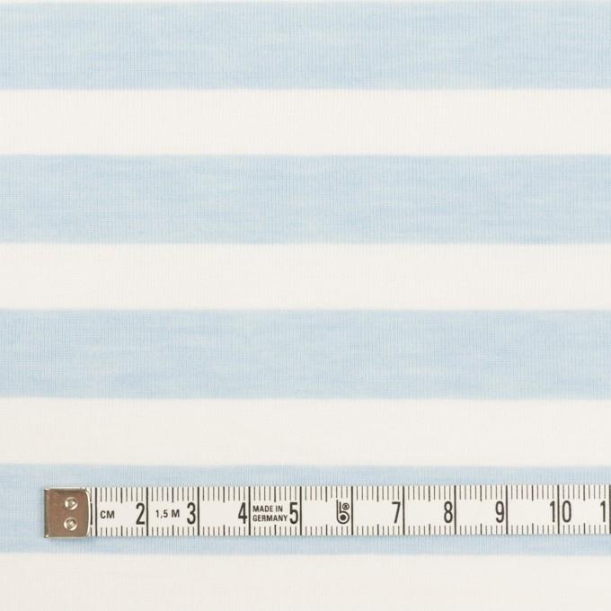 コットン&ポリエステル×ボーダー(サックス)×天竺ニット_全3色 イメージ4