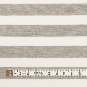 コットン&ポリエステル×ボーダー(杢グレー)×天竺ニット_全3色 サムネイル4