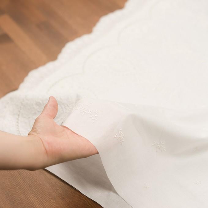 コットン×フラワー(オフホワイト)×ローン刺繍 イメージ5