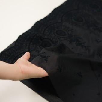 コットン×フラワー(ブラック)×ボイル刺繍 サムネイル5
