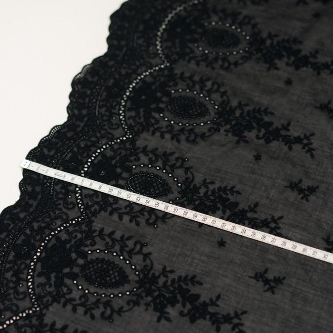 コットン×フラワー(ブラック)×ボイル刺繍 イメージ6