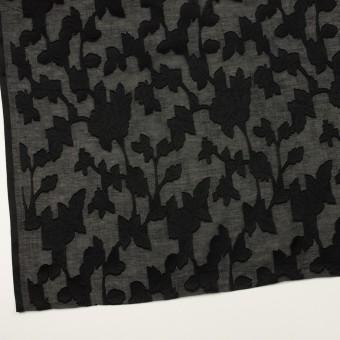 コットン×フラワー(ブラック)×ボイルカットジャガード サムネイル2