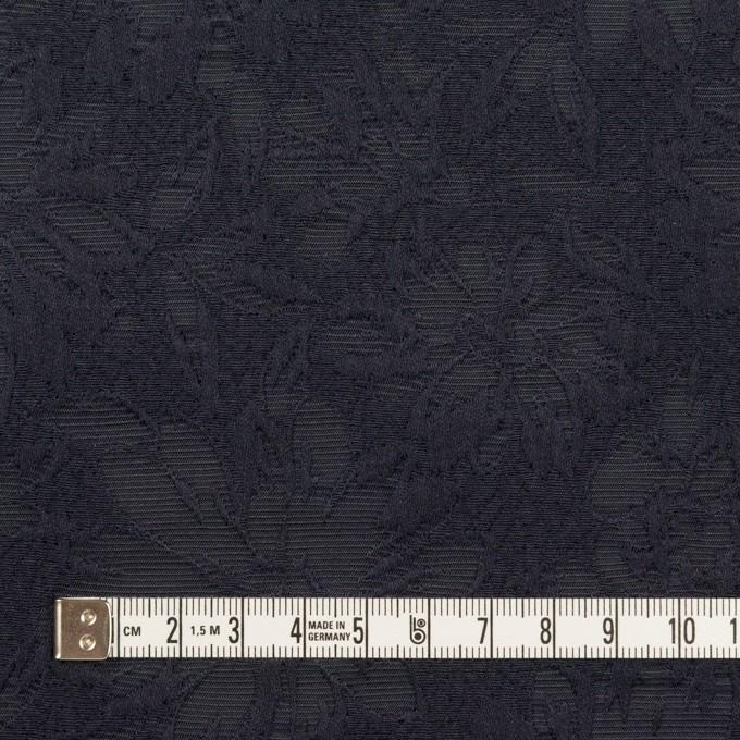 コットン&ポリエステル×フラワー(ネイビー)×ジャガード イメージ4