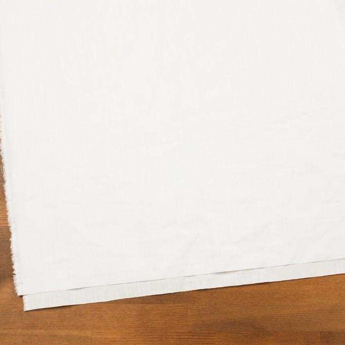コットン&ラミー×無地(オフホワイト)×ポプリンワッシャー_全2色 イメージ2