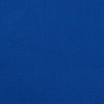 コットン&ラミー×無地(ロイヤルブルー)×ポプリンワッシャー_全2色