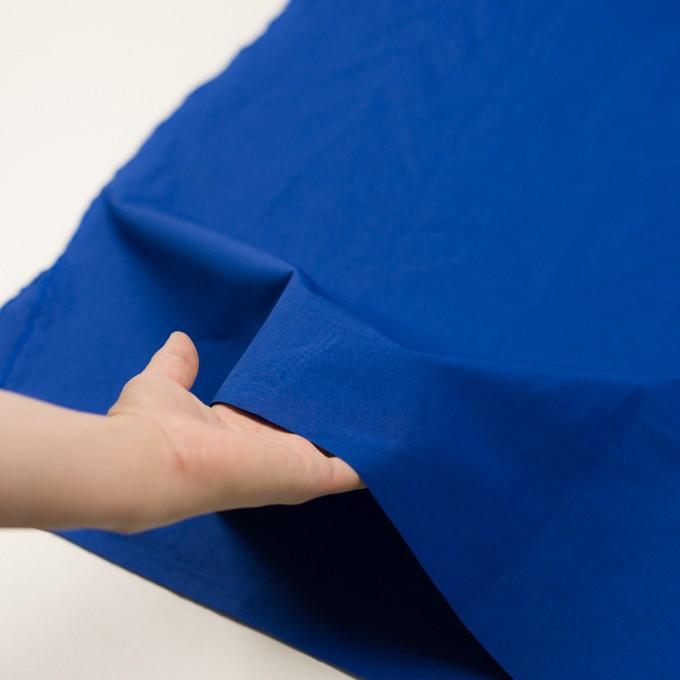 コットン&ラミー×無地(ロイヤルブルー)×ポプリンワッシャー_全2色 イメージ5