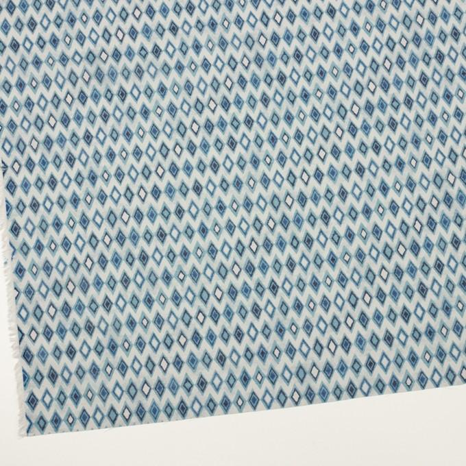 コットン×ダイヤ(ブルーグレー)×ボイル_全2色 イメージ2