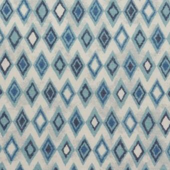 コットン×ダイヤ(ブルーグレー)×ボイル_全2色