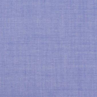 コットン&テンセル混×無地(ブルー)×シャンブレー・ローン_全3色
