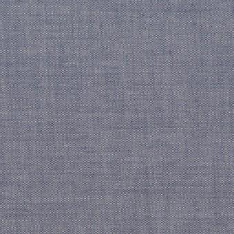コットン&テンセル混×無地(アッシュネイビー)×シャンブレー・ローン_全3色