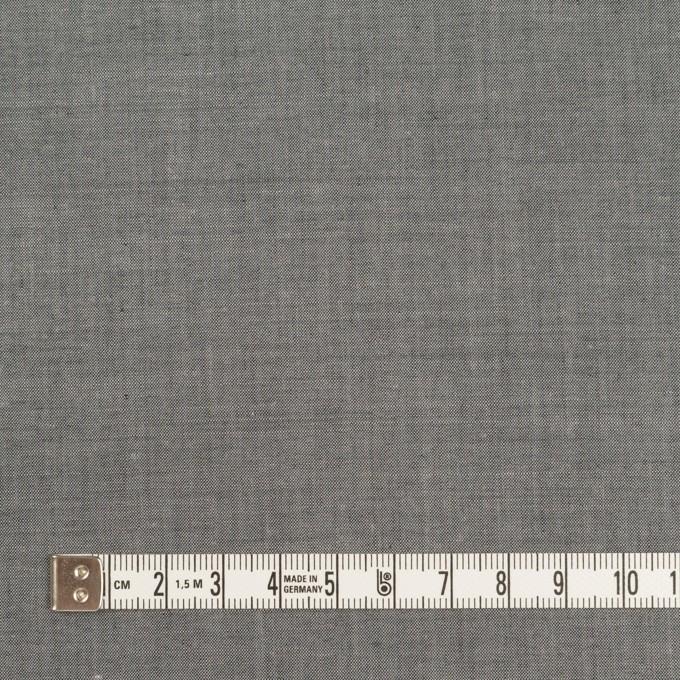 コットン&テンセル混×無地(チャコールグレー)×シャンブレー・ローン_全3色 イメージ4