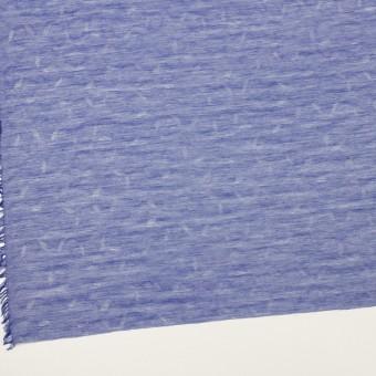 コットン&シルク×幾何学模様(ブルー)×ボイルジャガード サムネイル2