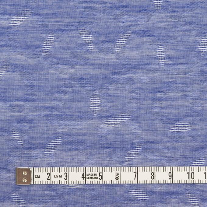 コットン&シルク×幾何学模様(ブルー)×ボイルジャガード イメージ4