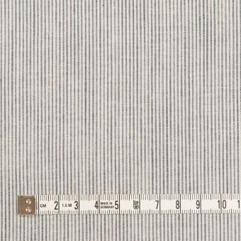 コットン&リネン×ストライプ(ネイビー&オフホワイト)×シーチング_全2色 サムネイル4