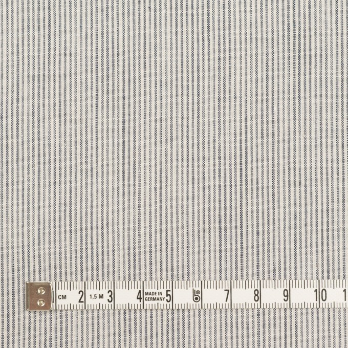 コットン&リネン×ストライプ(ネイビー&オフホワイト)×シーチング_全2色 イメージ4