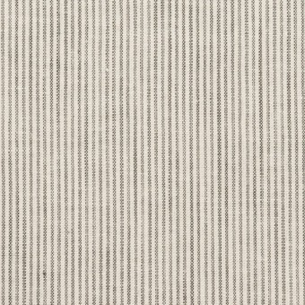 コットン&リネン×ストライプ(チャコール&アイボリー)×シーチング_全2色