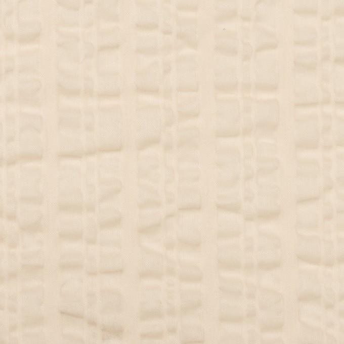 コットン×無地(ライトベージュ)×ボイルサッカー_全2色 イメージ1