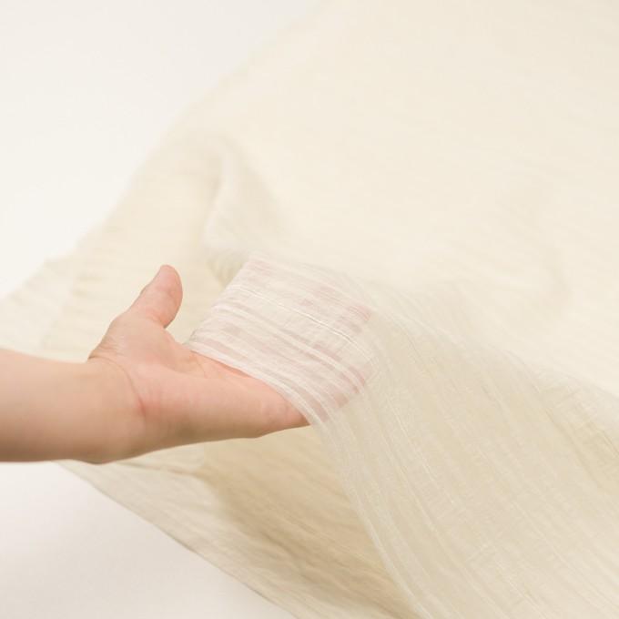 ナイロン&コットン×ボーダー(キナリ)×オーガンジー・ジャガード イメージ5