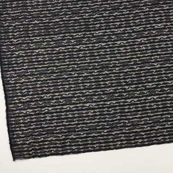 コットン&ナイロン混×ボーダー(ブラック&ミッドナイトブルー)×ボイルジャガード サムネイル2