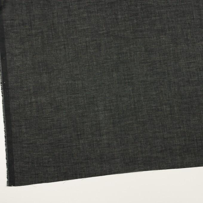 コットン×無地(ブラック)×ボイル イメージ2