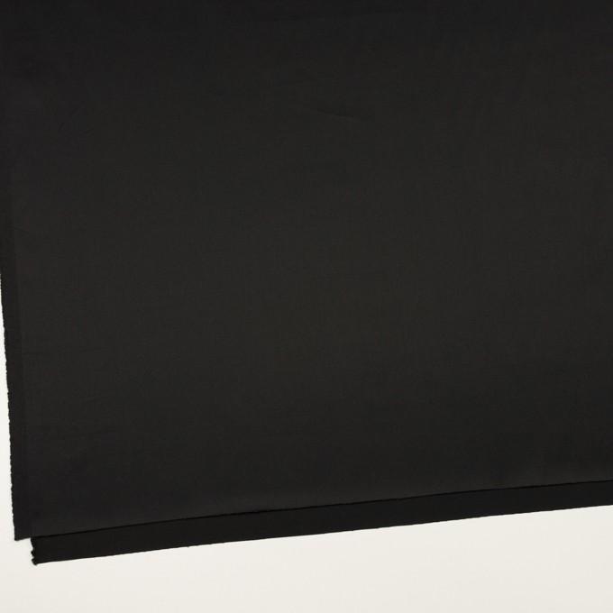 コットン&レーヨン×無地(ブラック)×サテン イメージ2
