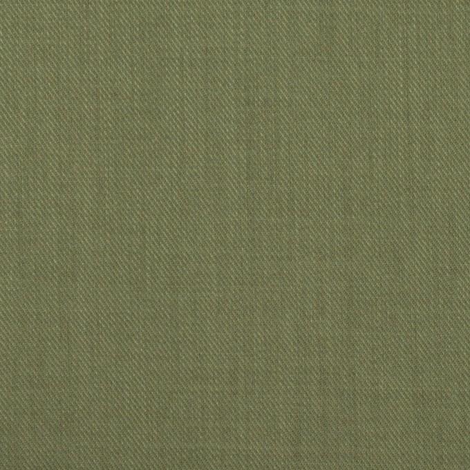 コットン&シルク×無地(カーキグリーン)×サージ_全4色 イメージ1