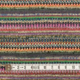 ポリエステル&レーヨン×ミックス(グリーン&ストーングレー)×ジャガードニット_イタリア製 サムネイル4