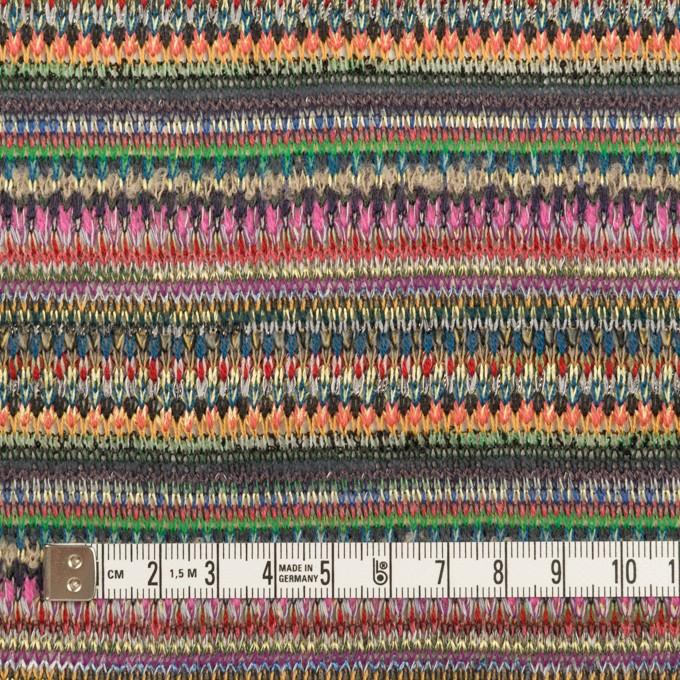 ポリエステル&レーヨン×ミックス(グリーン&ストーングレー)×ジャガードニット_イタリア製 イメージ4