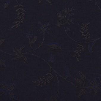コットン×フラワー(ネイビー)×ブロードジャガード サムネイル1