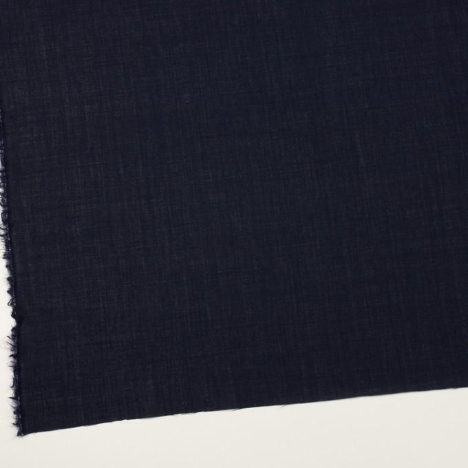 ウール×無地(ネイビー)×ボイル_イタリア製 イメージ2