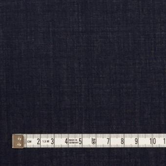 ウール×無地(ネイビー)×ボイル_イタリア製 サムネイル4