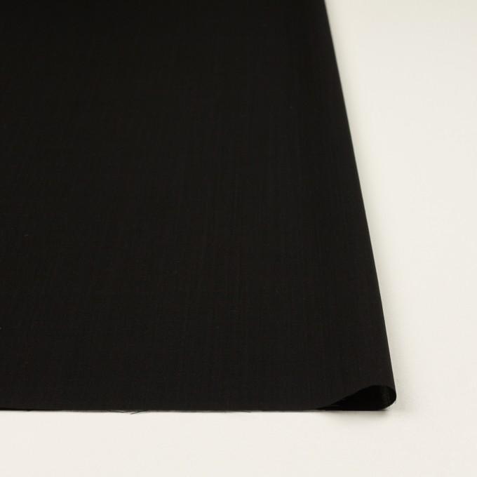 ウール×無地(ブラック)×ボイル イメージ3