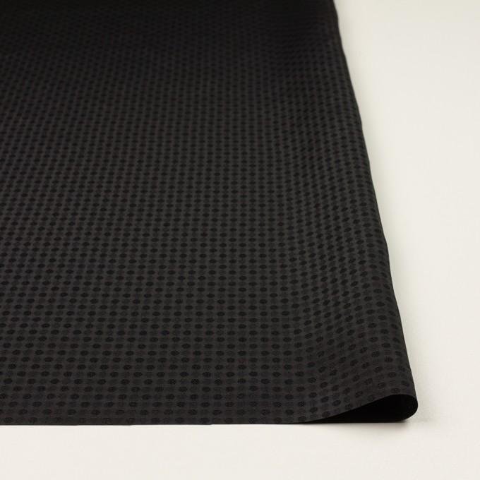 ポリエステル×ドット(ブラック)×ボイルジャガード イメージ3