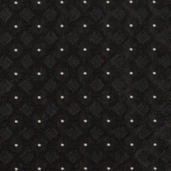 ポリエステル×ドット(ブラック)×形状記憶ジャガード