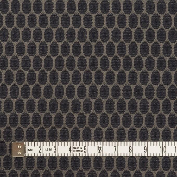 コットン&ポリエステル混×小紋(ダークネイビー&チャコールブラック)×サテンジャガード_フランス製 イメージ4