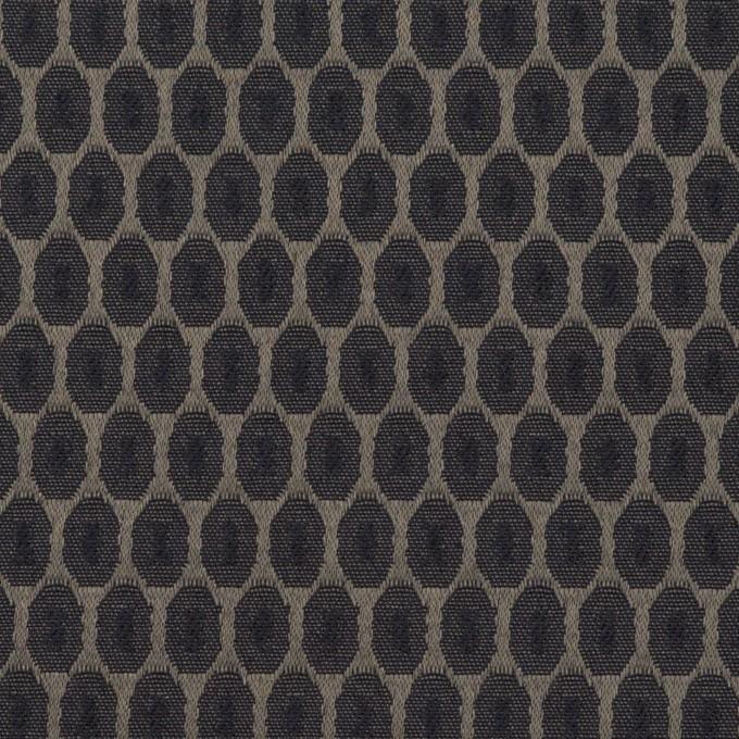 コットン&ポリエステル混×小紋(ダークネイビー&チャコールブラック)×サテンジャガード_フランス製 イメージ1