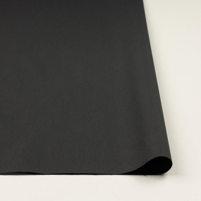 コットン&ポリアミド×無地(チャコール)×高密ブロード_イタリア製_全2色 イメージ3