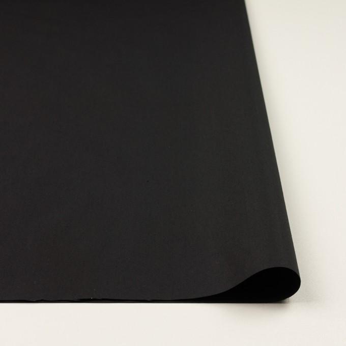 コットン&ポリアミド×無地(チャコールブラック)×高密ブロード_イタリア製_全2色 イメージ3