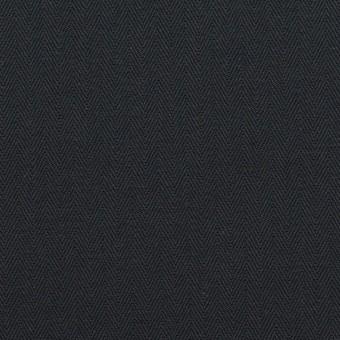 コットン×無地(ダークネイビー)×ヘリンボーン_全2色