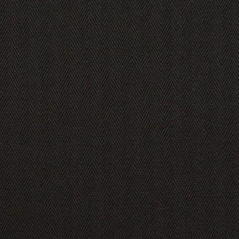 コットン×無地(ブラック)×ヘリンボーン_全2色