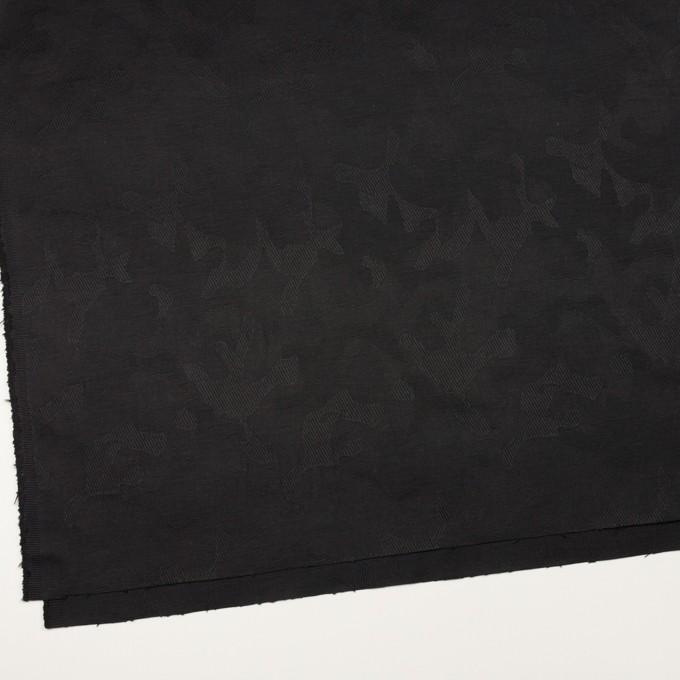 コットン&ポリウレタン×迷彩(ブラック)×ジャガード・ストレッチ イメージ2