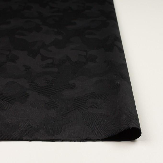 コットン&ポリウレタン×迷彩(ブラック)×ジャガード・ストレッチ イメージ3