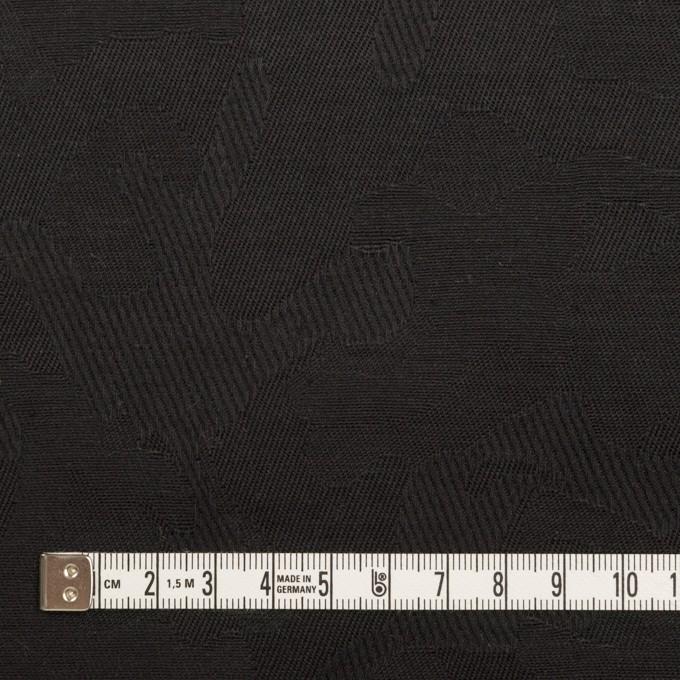 コットン&ポリウレタン×迷彩(ブラック)×ジャガード・ストレッチ イメージ4