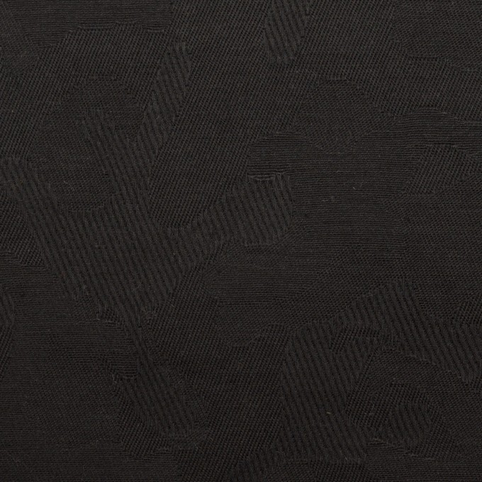コットン&ポリウレタン×迷彩(ブラック)×ジャガード・ストレッチ イメージ1