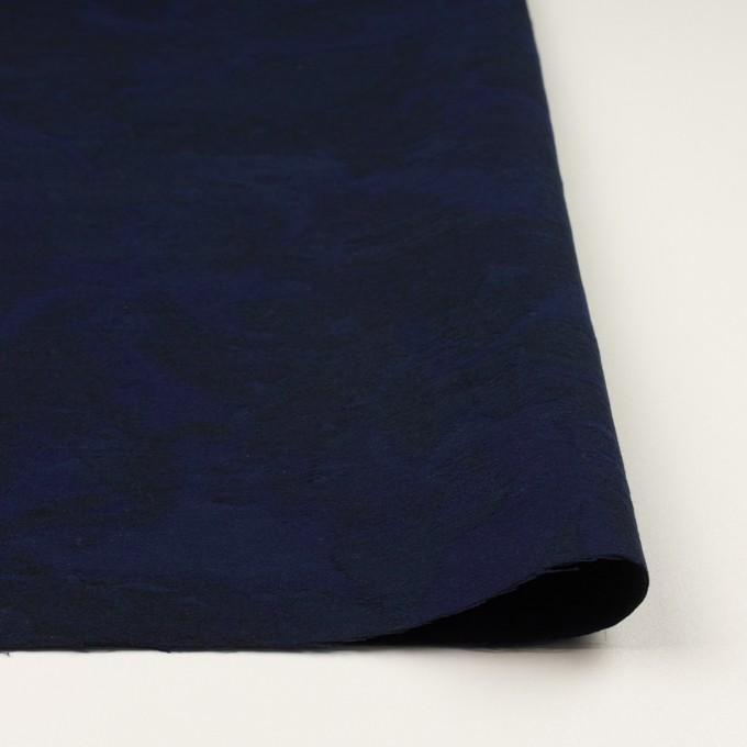 コットン×幾何学模様(ミッドナイトブルー)×ジャガード イメージ3