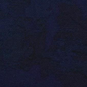 コットン×幾何学模様(ミッドナイトブルー)×ジャガード