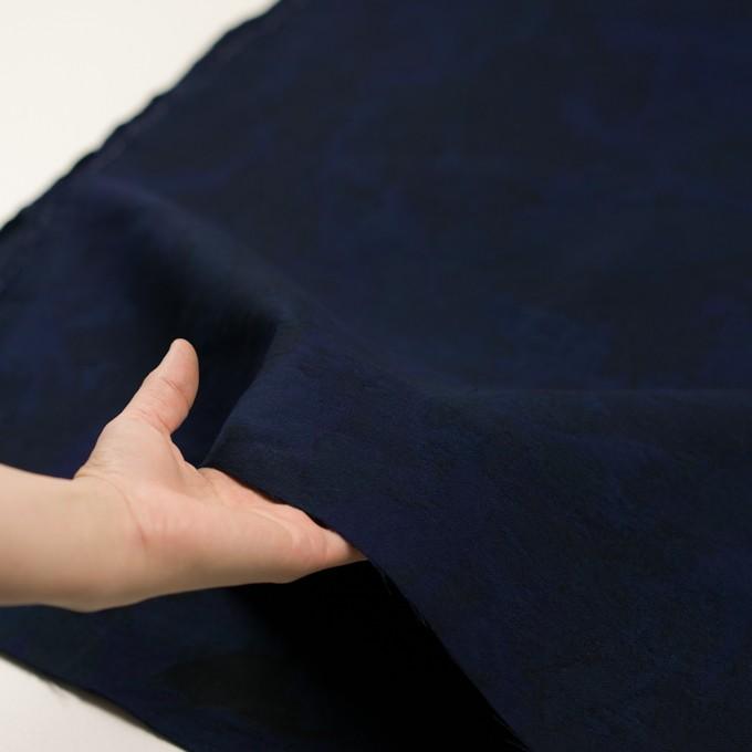 コットン×幾何学模様(ミッドナイトブルー)×ジャガード イメージ5